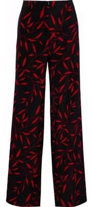 Diane von Furstenberg Printed Cady Wide-Leg Pants