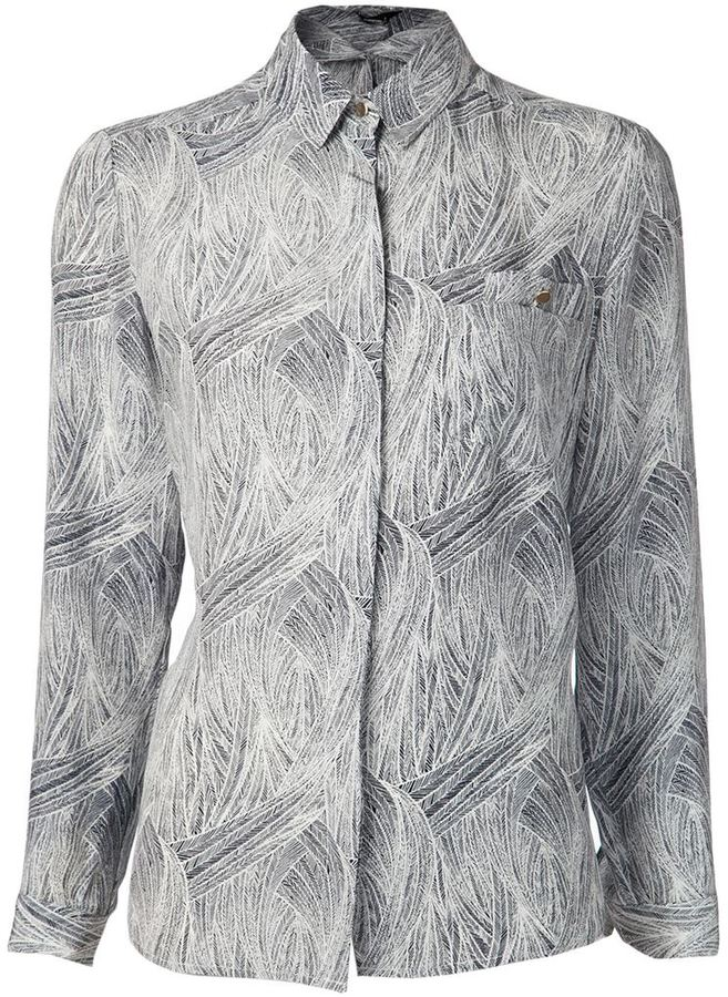 Jenni Kayne feather print blouse
