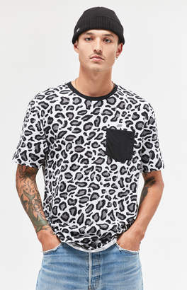 GUESS Pacsun Dojo Cheetah Print Pocket Relaxed T-Shirt