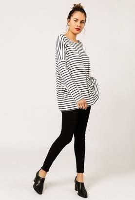 Azalea Striped Dolman Sleeve Top