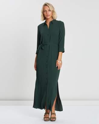 Dorothy Perkins Plain Belted Maxi Shirt Dress