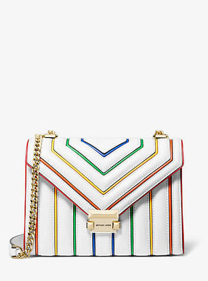 MICHAEL Michael Kors Whitney Large Rainbow Quilted Leather Convertible Shoulder Bag