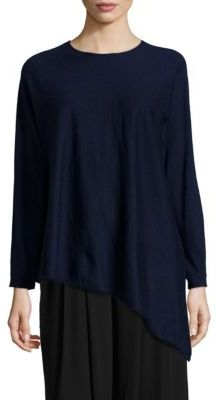 Eileen Fisher Cashmere Asymmetrical Tunic $348 thestylecure.com