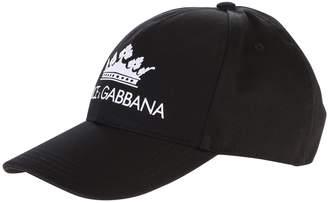 Dolce & Gabbana Printed Cotton Baseball Hat