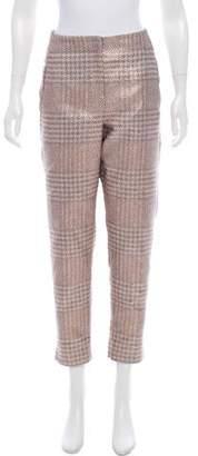 Giorgio Armani Metallic High-Rise Pants