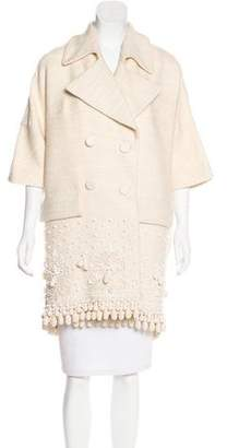 Marni Notch-Lapel Embroidered Coat w/ Tags