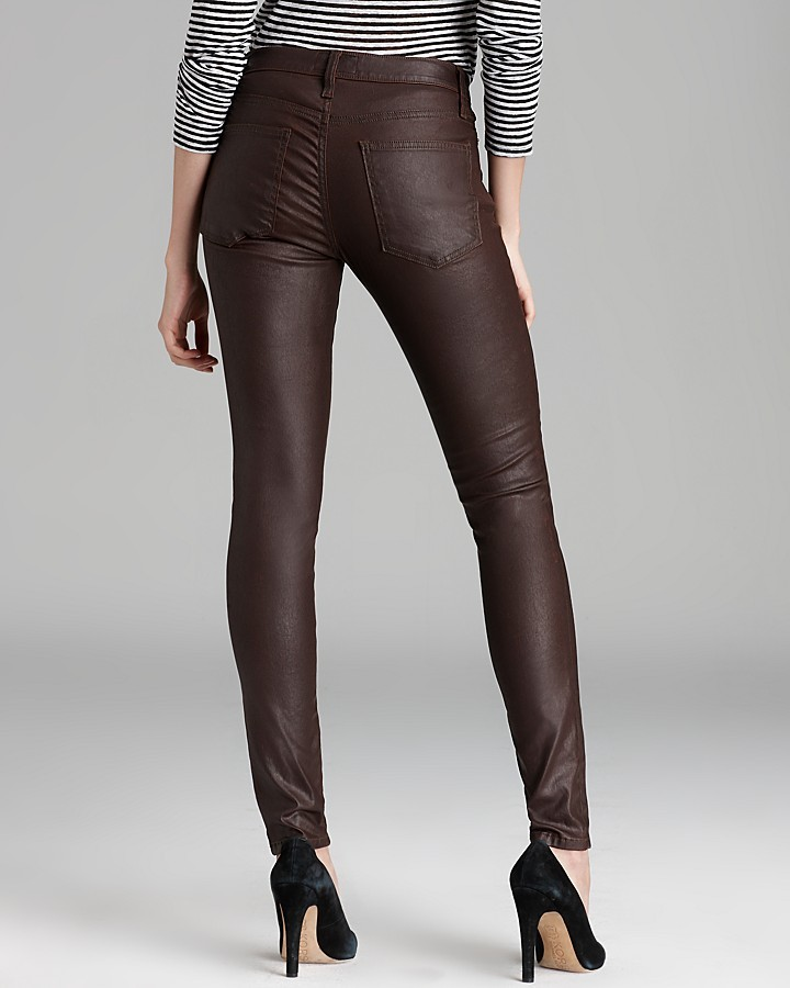 Current/Elliott Jeans - The Ankle Skinny in Brown Coated