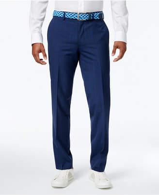 Bar III Men's Slim-Fit Blue Plaid Pants, Created for Macy's