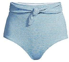 Mara Hoffman Women's Jay High-Waist Striped Bikini Bottom