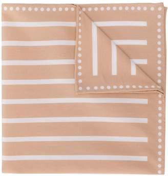 Brunello Cucinelli striped pattern scarf