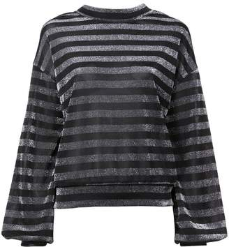 RtA striped lurex sweatshirt