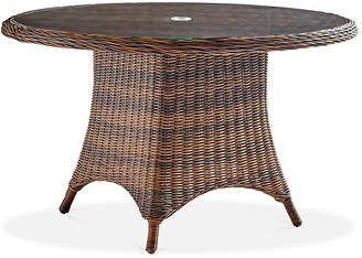 Barrington Wicker Chat Table - Chestnut - South Sea Rattan