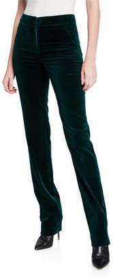 Elie Tahari Leena Straight-Leg Velvet Pants
