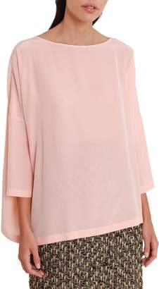 M Missoni Peach Silk Blouse