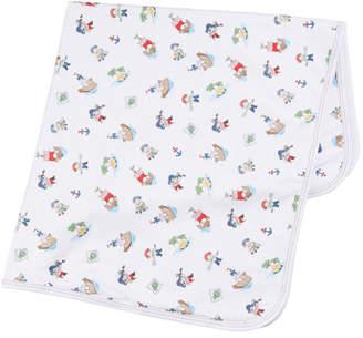 Kissy Kissy Pirate Treasure Printed Pima Baby Blanket