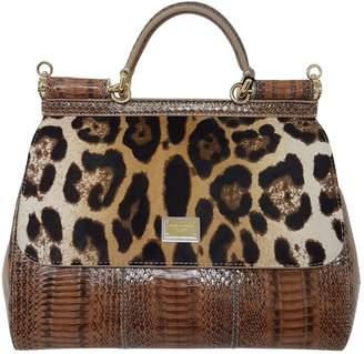 Dolce & Gabbana Sicily lizard crossbody bag