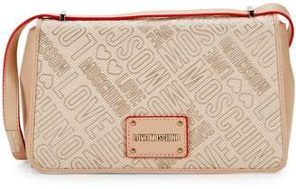 Love Moschino Logo Printed Crossbody Bag