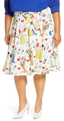 ELOQUII Graphic Print Skirt