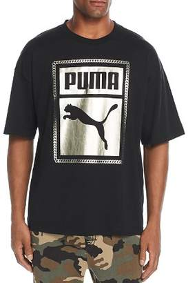 Puma Metallic Chain Logo Graphic Tee