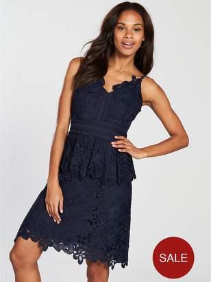 Ted Baker Nadiie Lace Detail Peplum Dress - Navy