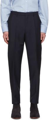 BOSS Navy Mohair Pirko 4 Trousers