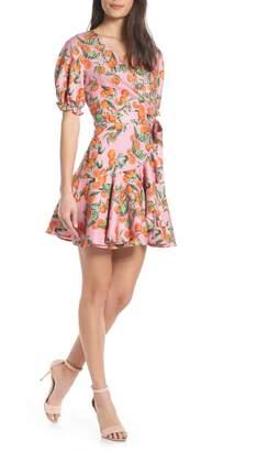 Finders Keepers Aranciata Print Wrap Dress