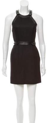 Alexander Wang Leather-Accented Mini Dress