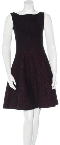 prada Prada Knit Jacquard A-Line Dress