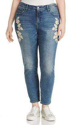 Lucky Brand Plus Lolita Embroidered Skinny Jeans in Avon