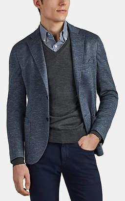 Luciano Barbera Men's Mélange Knit Wool-Blend Two-Button Sportcoat - Medium Gray