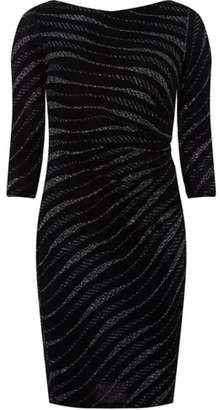 Dorothy Perkins Womens **Billie & Blossom Black Petite Zebra Print Bodycon Dress