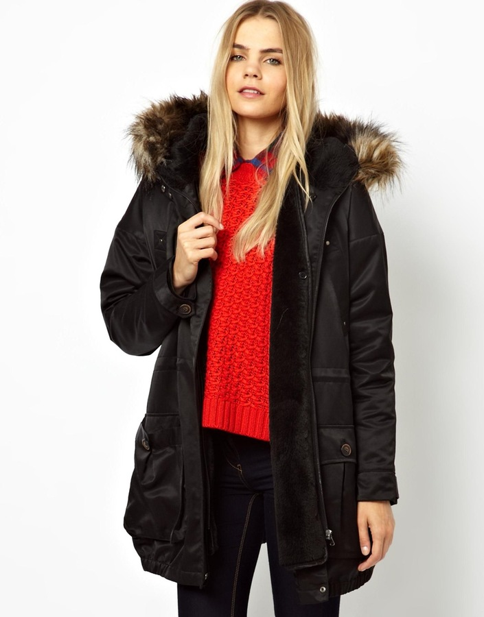 Issy Parka London Parka with Detachable Faux Fur Trim