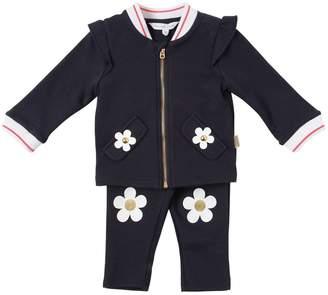 Little Marc Jacobs Sweatshirt & Leggings W/ Flower Details