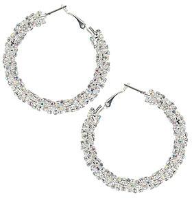 Dorothy Perkins Twist rhinestone hoop earrings