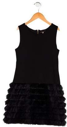 Ella Moss Girls' Sleeveless Fringed Dress