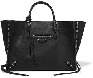 Balenciaga - Papier A6 Textured-leather Tote - Black $1,465 thestylecure.com