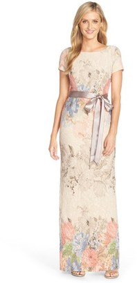 Women's Adrianna Papell Matelasse Floral Jacquard Column Gown $220 thestylecure.com