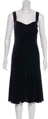 Lauren Ralph Lauren Velvet Sleeveless Midi Dress