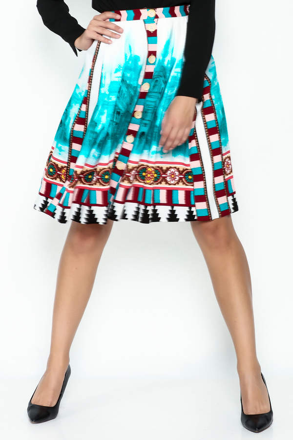 Plenty by Tracy Reese A Line Button Skirt