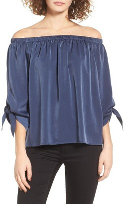 Women's Soprano Tie Sleeve Off The Shoulder Top $45 thestylecure.com
