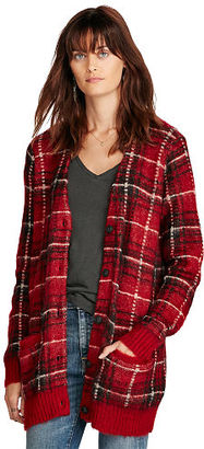Ralph Lauren Denim & Supply Plaid Boyfriend Cardigan $165 thestylecure.com