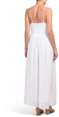 Juniors Embroidered Maxi Dress