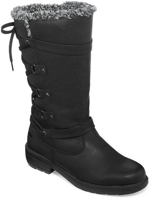 Totes Mona II Lace Back Winter Boots $90 thestylecure.com