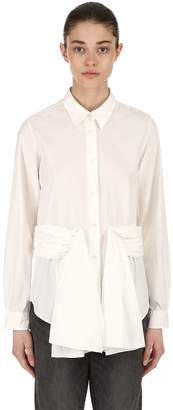 Aalto Draped Cotton Poplin Shirt