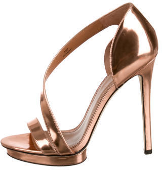 B Brian Atwood Metallic Consort Sandals $130 thestylecure.com