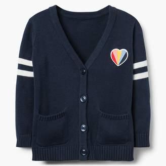 Gymboree Heart Varsity Cardigan