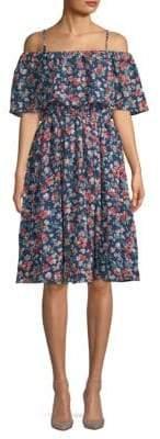 Kas Sophia Floral Knee-Length Dress