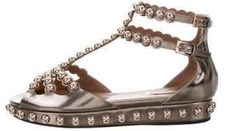 Alaia Metallic Studded Sandals