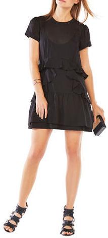 BCBGMAXAZRIABcbgmaxazria Inez Ruffled Chiffon Dress