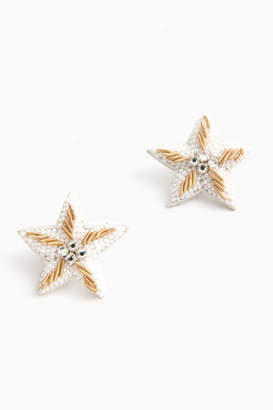 Suzanna Dai Caicos Starfish Button Earrings